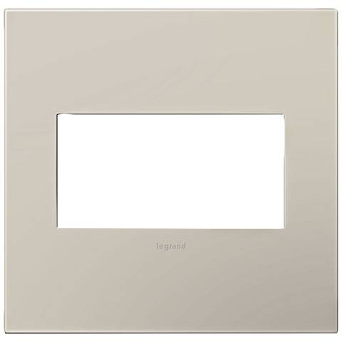 adorne® Greige 2-Gang Snap-On Wall Plate