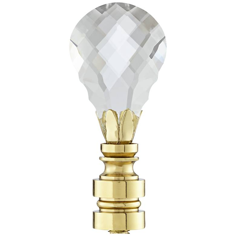 Crystal Teardrop Lamp Shade Finial