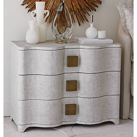 Global Views Toile Belgian Linen Chest with Drawer