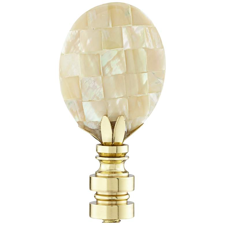 Mother of Pearl Lamp Shade Finial
