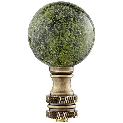 Green Lace Stone Lamp Shade Finial