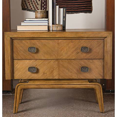 Global Views Vienna Walnut Wood 2-Drawer Chest