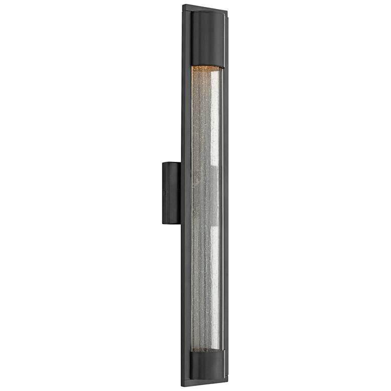 """Hinkley Mist 28 1/2"""" High Satin Black Outdoor Wall Light"""