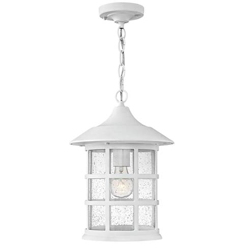 "Hinkley Freeport 14""H Classic White Outdoor Hanging Light"