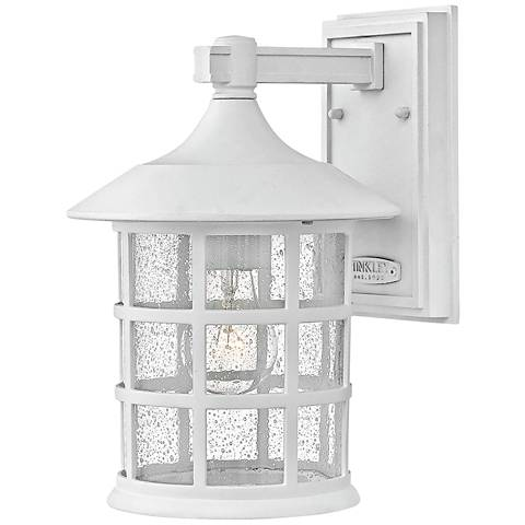 "Hinkley Freeport 12 1/4""H Classic White Outdoor Wall Light"