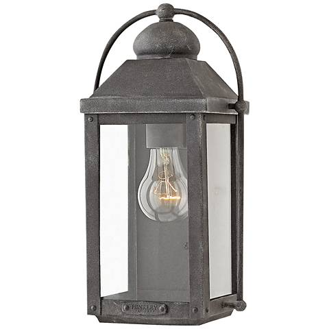 "Hinkley Anchorage 13"" High Aged Zinc Outdoor Wall Light"