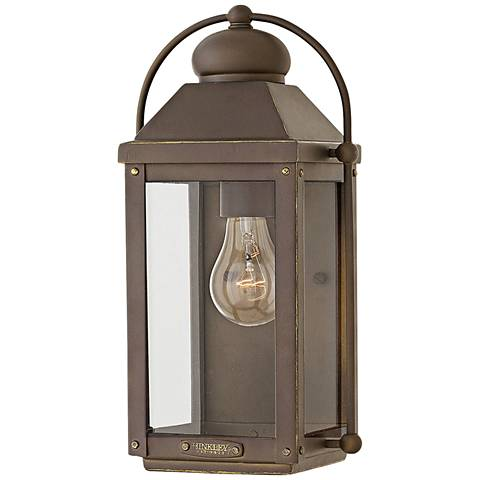 "Hinkley Anchorage 13""H Light Oiled Bronze Outdoor Wall Light"