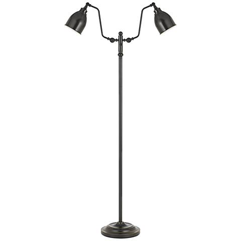 Wolfert Dark Bronze Dual Round-Head Pharmacy Floor Lamp