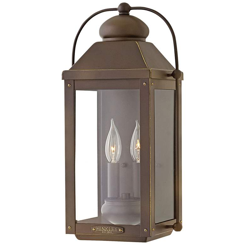 "Anchorage 17 3/4""H Light Oiled Bronze Outdoor Wall"