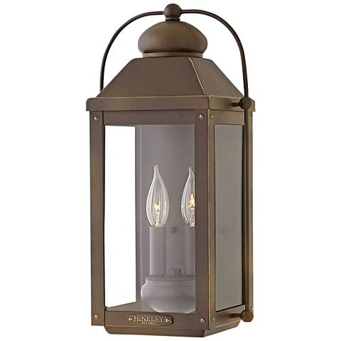 "Anchorage 17 3/4""H Light Oiled Bronze Outdoor Wall Light"