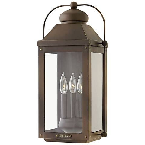 "Anchorage 21 1/4""H Light Oiled Bronze Outdoor Wall Light"