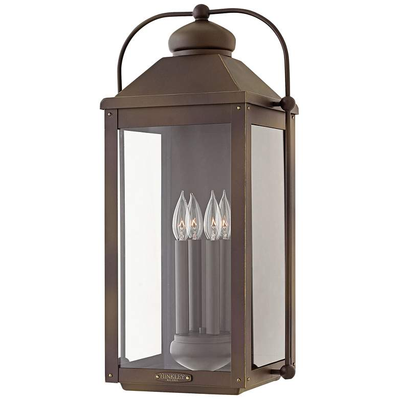 "Hinkley Anchorage 25""H Light Oiled Bronze Outdoor Wall"