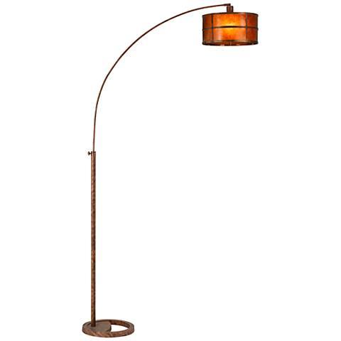 Lite Source Relaxar 3 Light Polished Steel Arc Floor Lamp