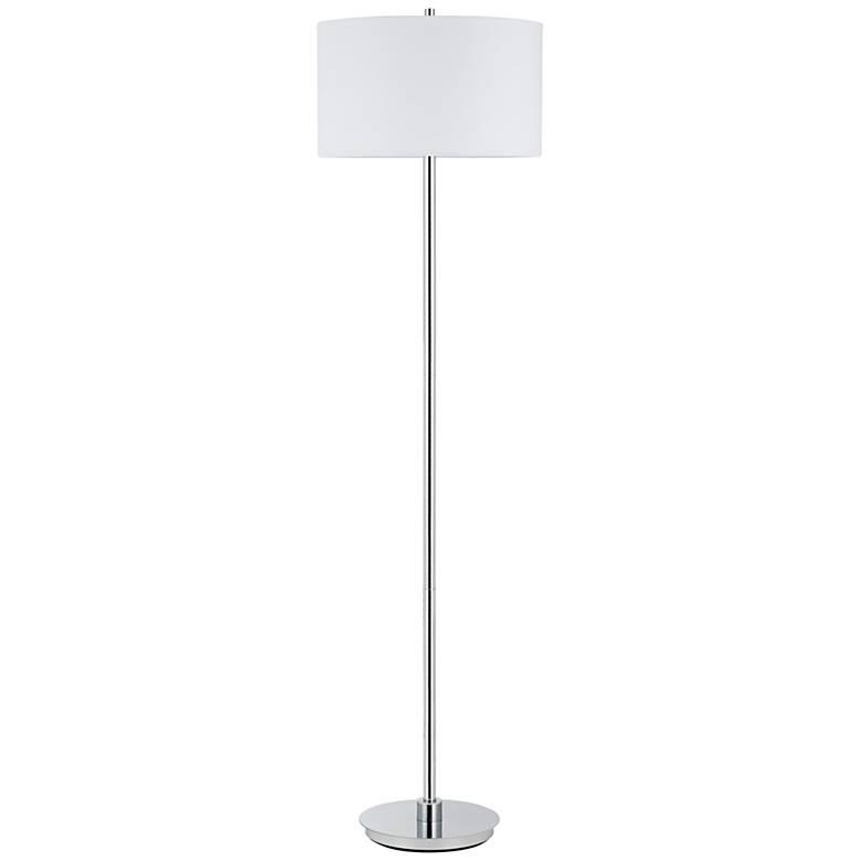 Halle Polished Chrome Minimalist-Modern Floor Lamp