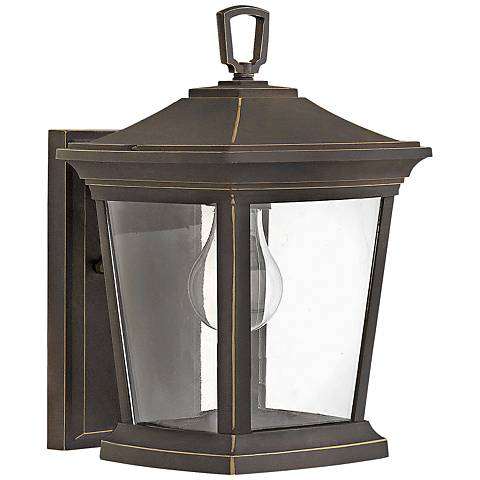 """Bromley 11 3/4"""" High Oil Rubbed Bronze Outdoor Wall Light"""