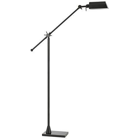 Kaline LED Dark Bronze Adjustable Pharmacy Floor Lamp