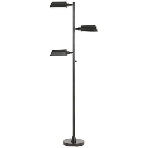 Nico LED Dark Bronze Tri-Level 3-Light Swivel Floor Lamp