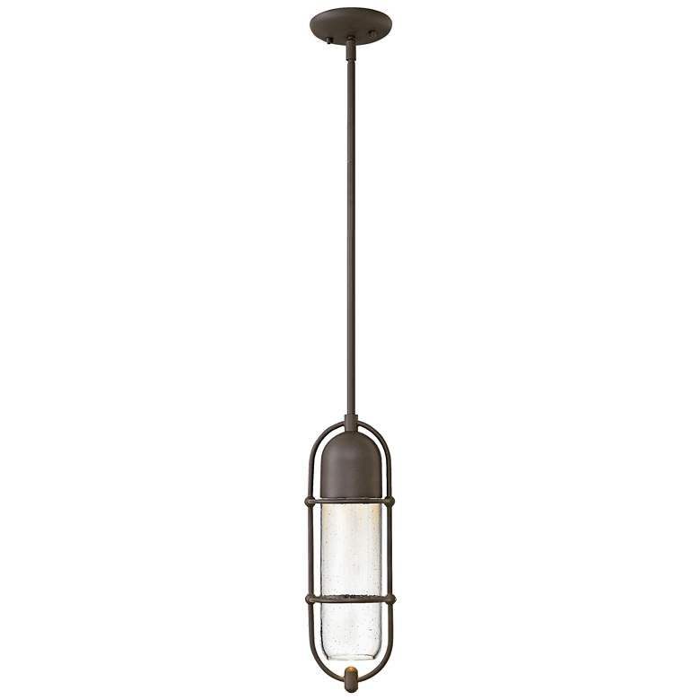 "Perry 16""H Oil Rubbed Bronze Outdoor Hanging Light"