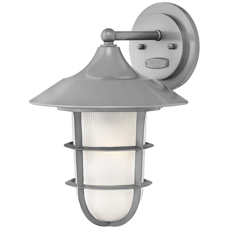 """Marina 14 1/2""""H Hematite Etched Glass Outdoor Wall Light"""