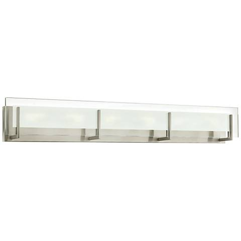 "Hinkley Latitude 37 1/2"" Wide Brushed Nickel LED Bath Light"