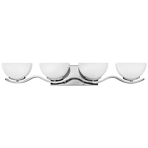 "Hinkley Verve 32 3/4"" Wide Chrome 4-Light Bath Light"