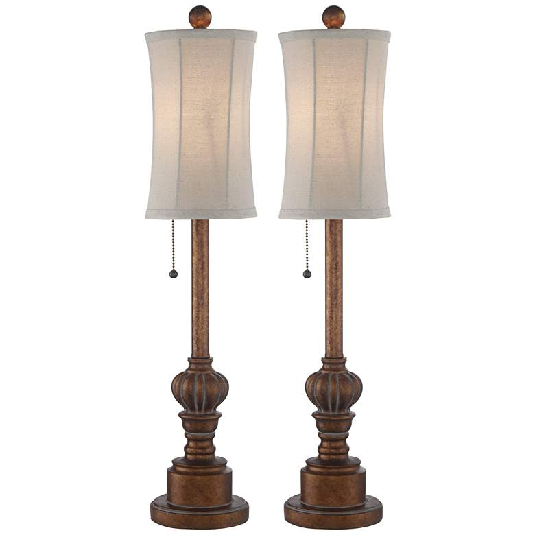 "Bertie 28"" High Tall Buffet Table Lamps Set of 2"