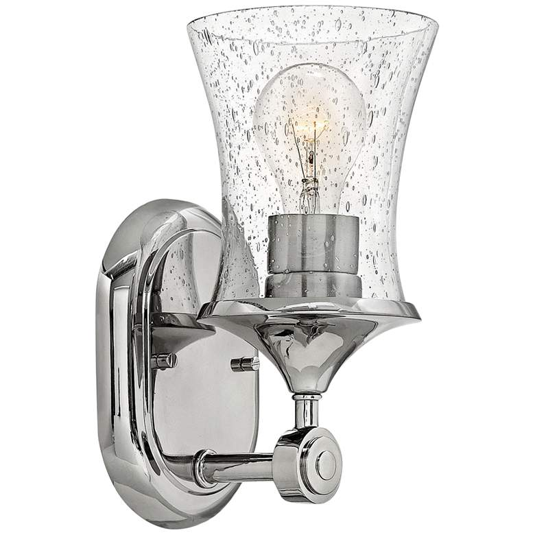 """Thistledown 10 1/2"""" High Polished Nickel Wall Sconce"""