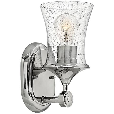 "Thistledown 10 1/2"" High Polished Nickel Wall Sconce"