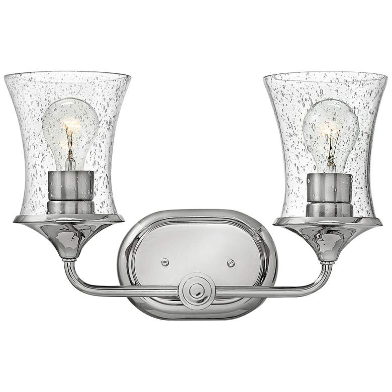 """Thistledown 10 1/2""""H Polished Nickel 2-Light Wall Sconce"""