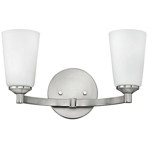 "Hinkley Sadie 8 3/4"" High Brushed Nickel Wall Sconce"