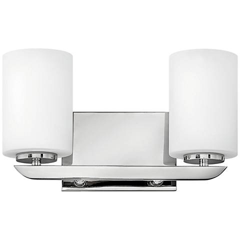 "Hinkley Kyra 7 3/4""H Polished Nickel 2-Light Wall Sconce"