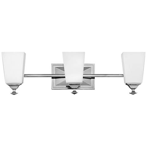 "Hinkley Baldwin 23 1/2""W Polished Nickel 3-Light Bath Light"