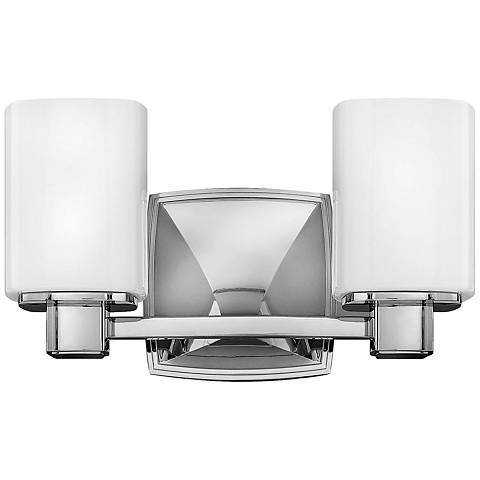 "Hinkley Tessa 7 1/2"" High Chrome 2-Light Wall Sconce"