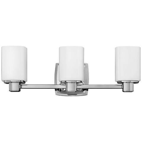 "Hinkley Tessa 22"" Wide Chrome 3-Light Bath Light"