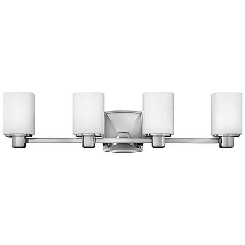 hinkley tessa 31 wide chrome 4 light bath light 10v65 lamps plus