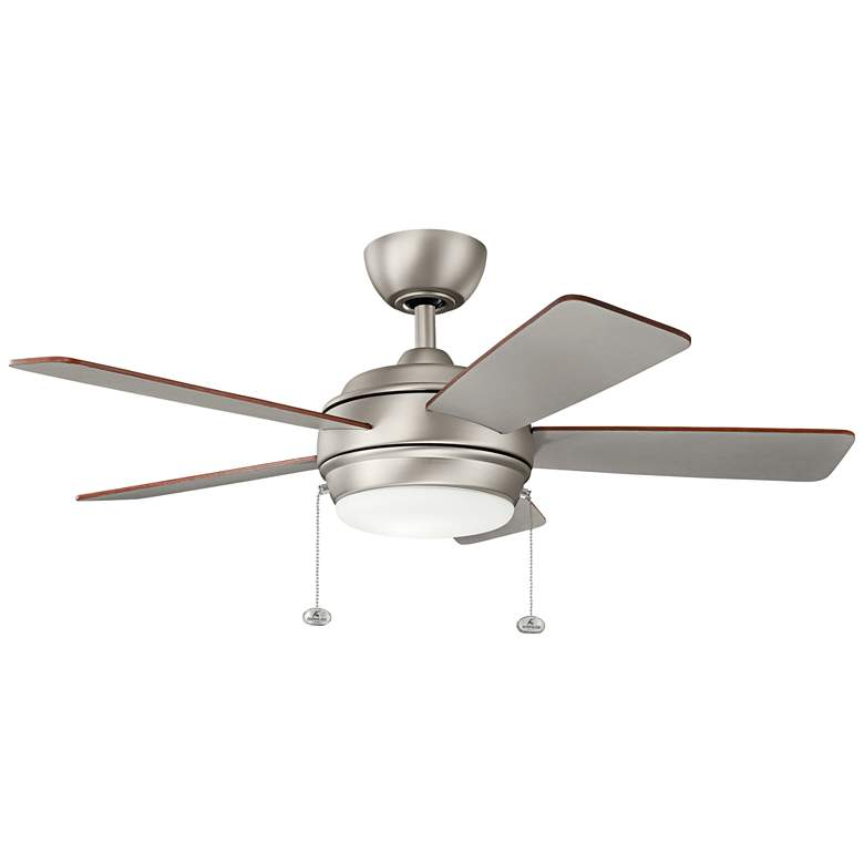 "42"" Kichler Starkk Brushed Nickel LED Ceiling Fan"