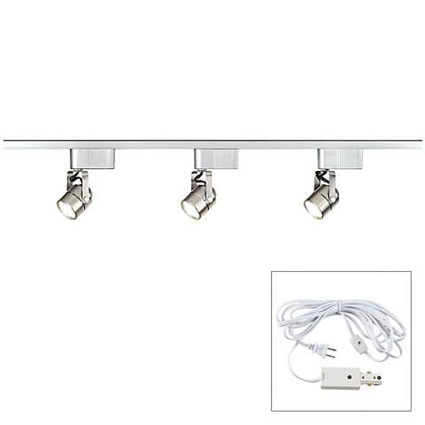 Pro Track® Satin Nickel 150 Watt LV Track Kit - Plug In
