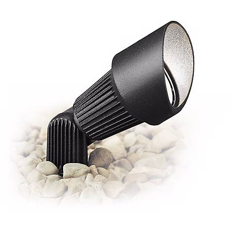 "Kichler Textured Black 3"" Wide Ribbed Landscape Accent Light"
