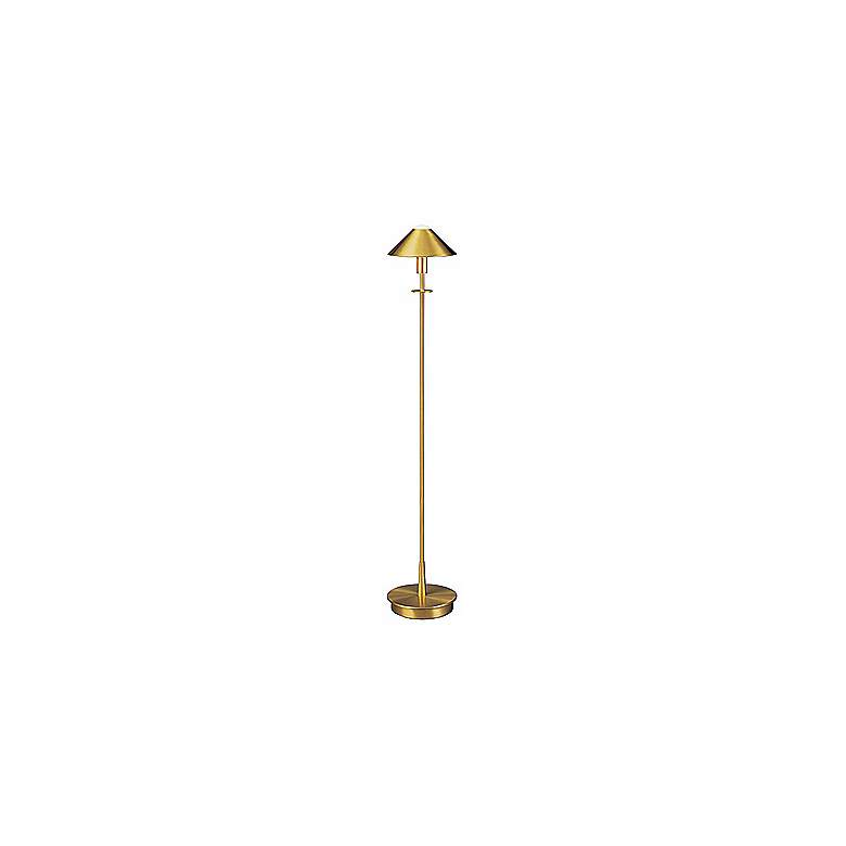 Holtkoetter Brushed Brass Halogen Floor Lamp