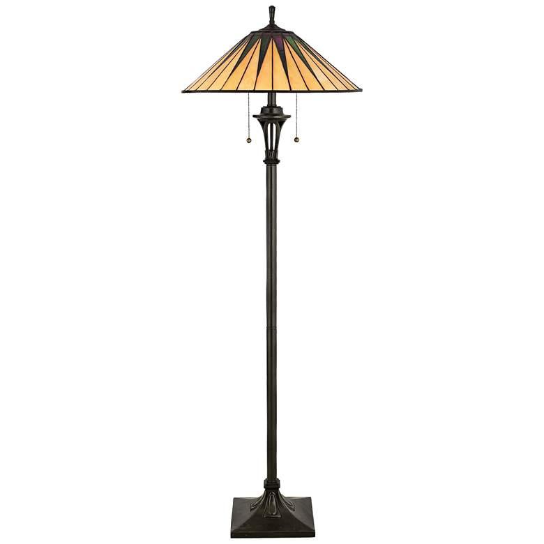 Gotham Tiffany-Style  Floor Lamp by Quoizel
