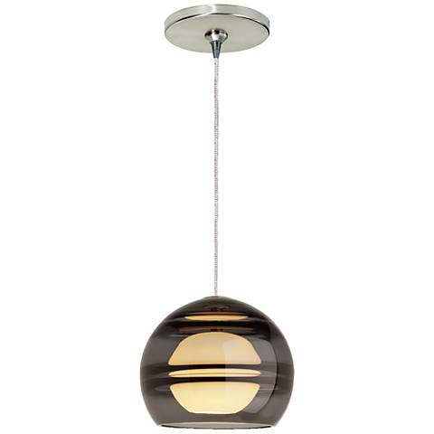 "Sedona 6"" Wide Satin Nickel LED Freejack Mini Pendant"
