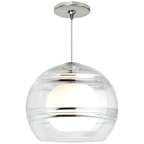 "Sedona 6""W Clear and Satin Nickel LED Freejack Mini Pendant"