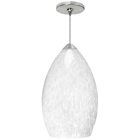 "Firefrit 4 1/2""W White and Nickel LED Freejack Mini Pendant"