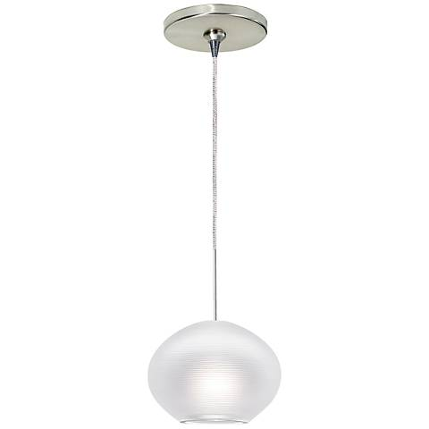 "Circulet 6 1/4""W Satin Nickel LED Freejack Mini Pendant"