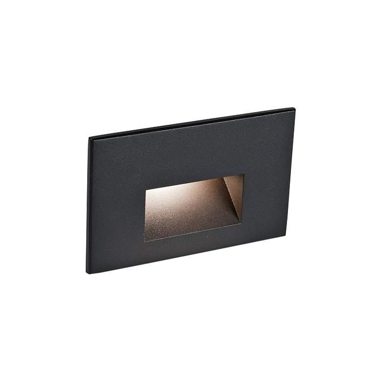 "WAC LEDme 5""W Black Horizontal 2700K LED Step and Wall Light"