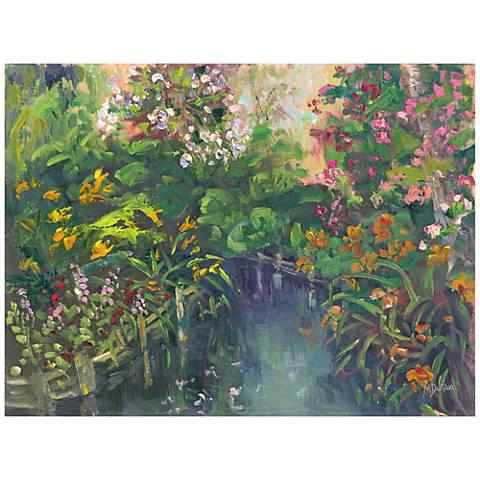 """Channeling Monet 40""""W All-Season Outdoor Canvas Wall Art"""