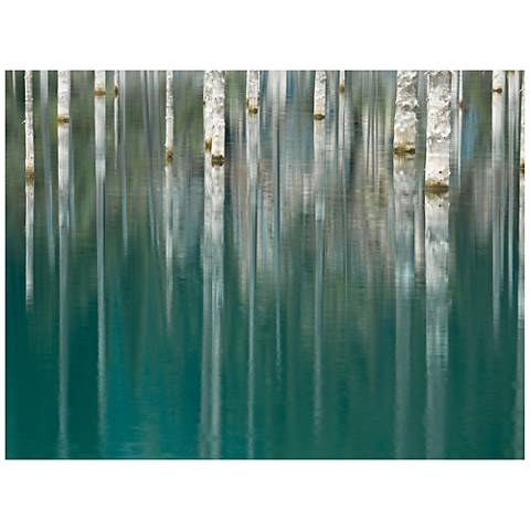 "Silver Lake 40"" Wide All-Season Outdoor Canvas Wall Art"