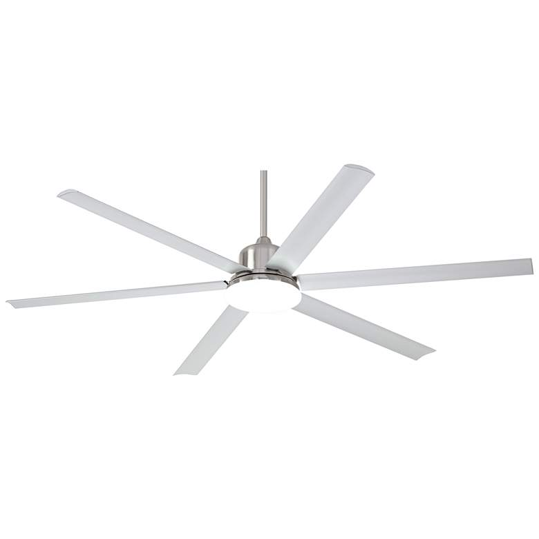 "72"" Casa Arcade™ Brushed Nickel Damp LED Ceiling Fan"