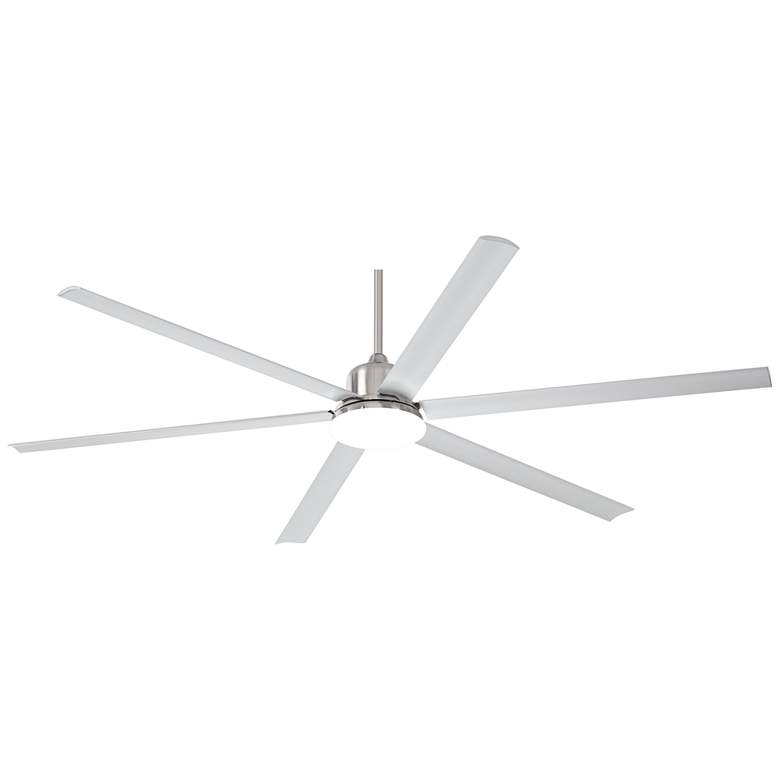 "84"" Casa Arcade™ Brushed Nickel Damp LED Ceiling Fan"