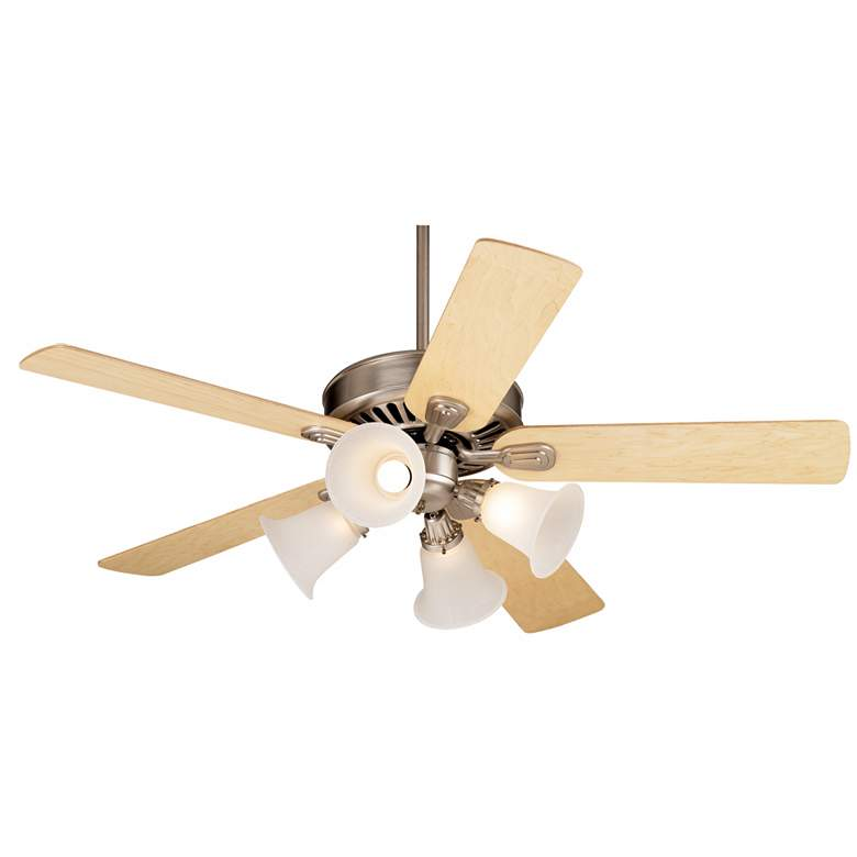 """52"""" Windstar II Maple and Frosted Glass Ceiling Fan"""